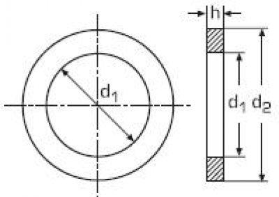 Размер d 1 d 2 h m1 6 1 7